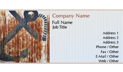 Rusty Boat Anchor Business Card Template